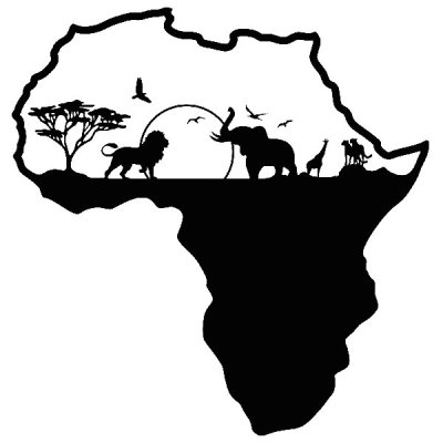wall-stickers-africa-silhouette-skyline-animals